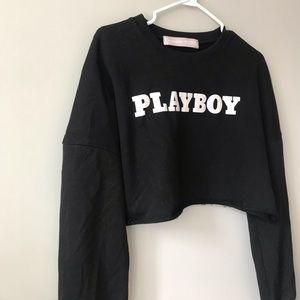 Playboy cropped long sleeve